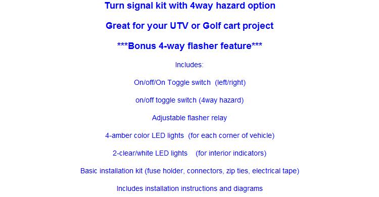 mcs utv toggle switch turn signal kit with hardware round leds rh advancemcs com