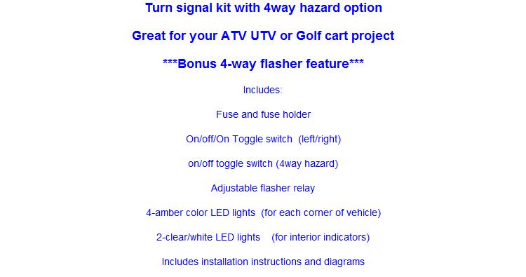 MCS UTV Toggle switch turn signal kit - Round LEDs | ATV