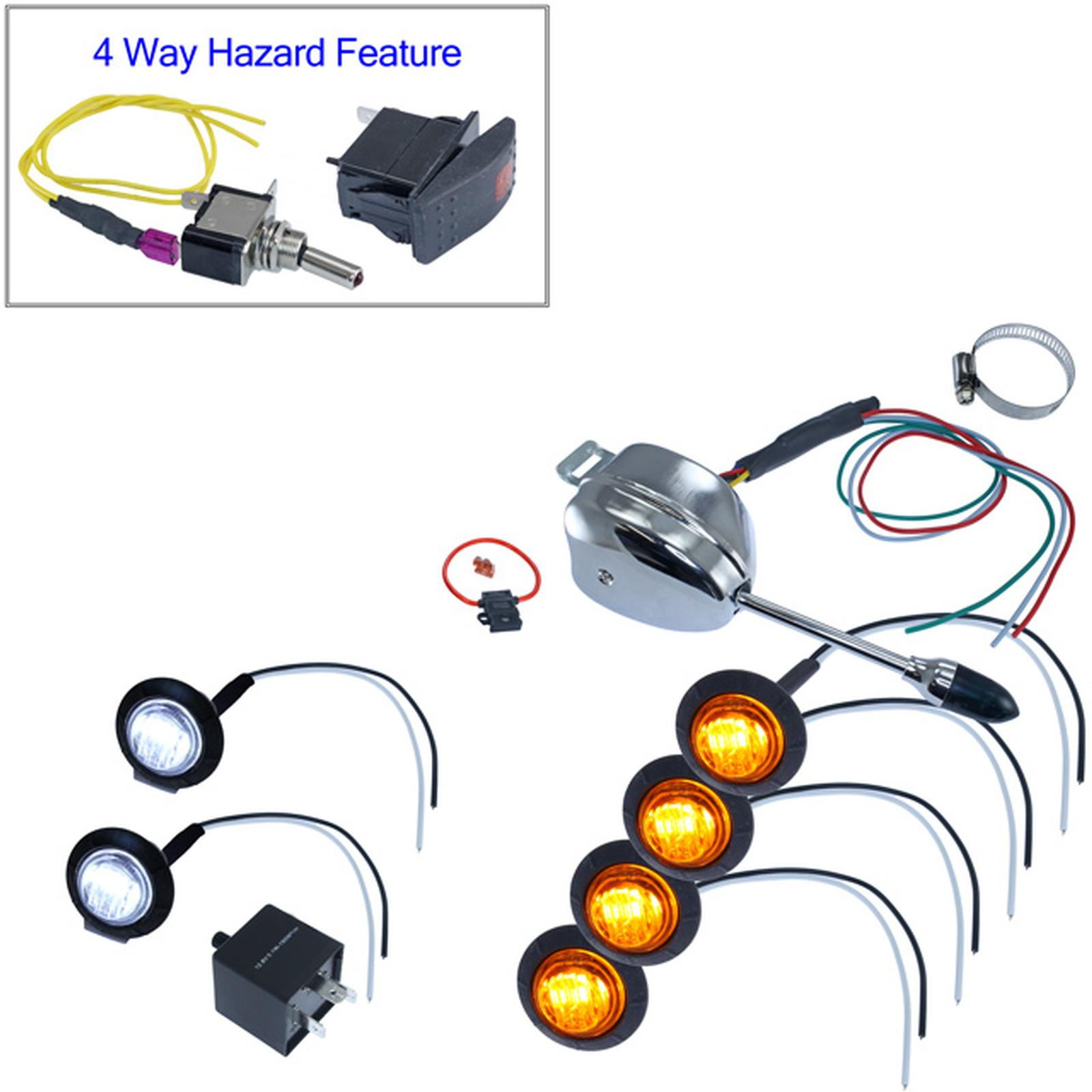 Mcs Utv Lever Switch Turn Signal Kit Round Leds Atv Dune Buggy Wiring Harness Kits Accessories Custom 12 Volt Components Auto