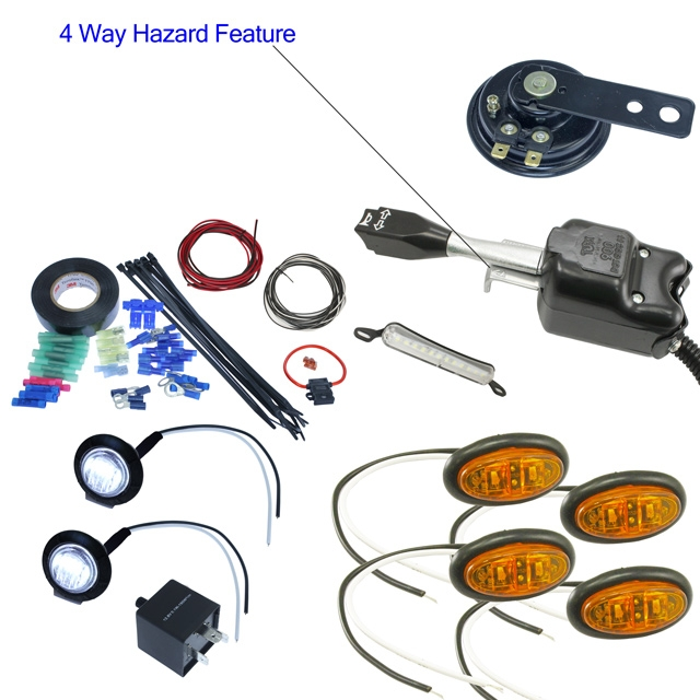 MCS UTV vehicle safety switch turn signal kit with horn and